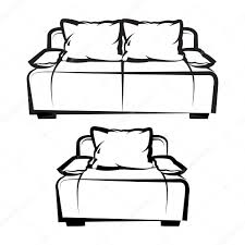 Couch Drawing Chair And Sofa Freehand Drawing U2014 Stock Vector Sooolnce 118343036