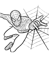 coloring page spiderman free printable spiderman coloring pages