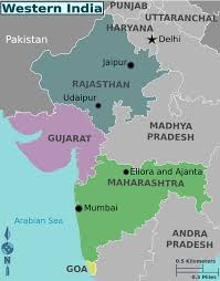 India Regions Map western india png