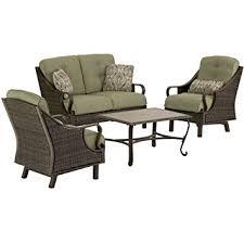 Amazoncom  Hanover VENTURAPC Ventura Piece IndoorOutdoor - Indoor outdoor sofas 2