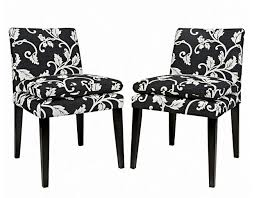 Black And White Dining Room Chairs Black And White Striped Upholstered Dining Chairs Dining Chairs