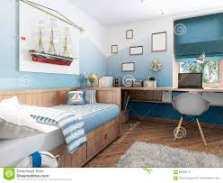 childrens room children u0027s room in the marine style stock illustration image