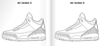 air jordan 3 coloring pages coloring pages ideas