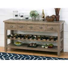 Dining Room Servers Sideboards Jofran Slater Mill Wine Rack Server Hayneedle