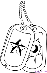 how to draw military dog tags step by step symbols pop culture