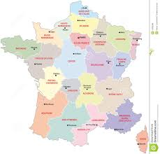 Champagne France Map by France Administrative Map Stock Vector Image 47890389