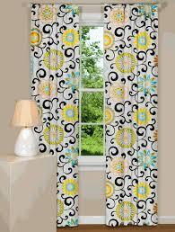 modern floral curtains pom pom play confetti