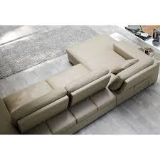 canap chaise longue canapé italien avec chaise longue hanford cuir ou tissu