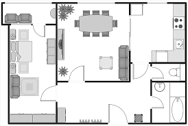 floor plans with dimensions how to create a building plan using conceptdraw pro cafe and