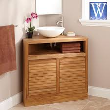 Teak Vanities Bathroom Furniture The Q Teak Vanity Collection