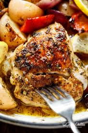 Mediterranean Style Chicken Recipe Garlic Lemon Herb Mediterranean Chicken Potatoes One Pan