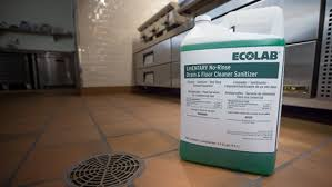 lmentary no rinse drain and floor cleaner sanitizer ecolab