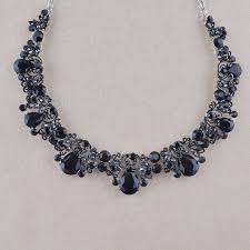 black rhinestone necklace images Buy black crystal for women party dress jewelry jpg