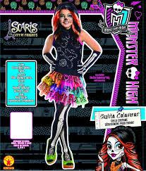 monster high skelita halloween costume amazon com monster high skelita calaveras costume medium toys