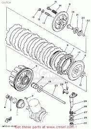 yamaha yfz350a banshee 1990 clutch schematic partsfiche