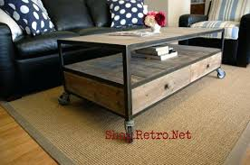 industrial coffee table with wheels industrial coffee table with wheels french industrial coffee table