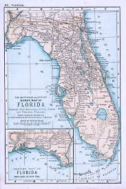 Florida Map Image by The Matthews Northrup Handy Map Of Florida Showing All Railroads