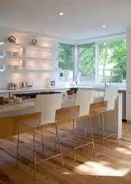 interior design modern kitchen with lacquered kitchen cabinets