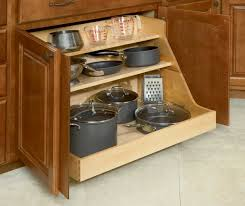 Metal Kitchen Storage Cabinets Witching Two Shelves Storage Pans And Pots Come With White Wooden