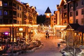 mammoth night of lights ski snowboard town lit at night with family fun at the village
