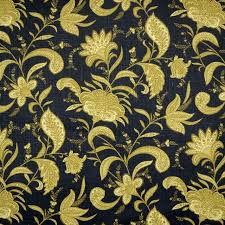 Black And Gold Curtain Fabric Candia Twilight Black Gold Striped Fabric Traditional Drapery