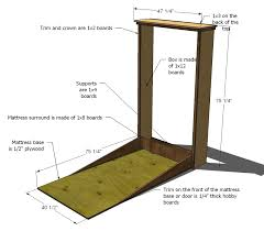 How To Make A Platform Bed From A Regular Bed by Ana White Plans A Murphy Bed You Can Build And Afford To Build