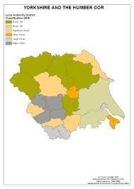 Yorkshire Map Regional Maps Of Rural Areas Census 2001 Region Yorkshire And