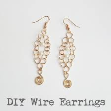 connecting earrings introduction to wirework easy diy wire earrings golden age