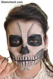 skull face makeup tutorial
