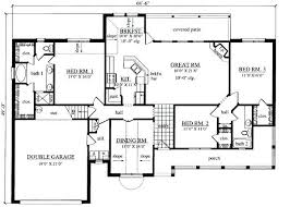 floor plans for 3 bedroom ranch homes simple 3 bedroom floor plans small 2 story 3 bedroom house plans