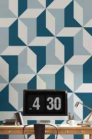 contemporary blue wallpaper room design ideas