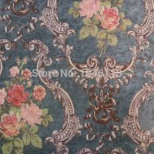 Tapestry Upholstery Fabric Discount Luxurious American Style Jacquard Chenille Flower Design Sofa