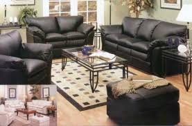Black Leather Living Room Furniture Sets Big Black Squishy Leather Couches For The Home Pinterest