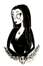 morticia by dragonfly artwork s on deviantart