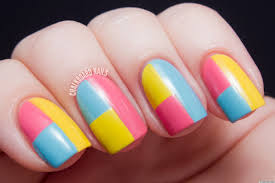 diy nail art a colorblock manicure with mod appeal photos