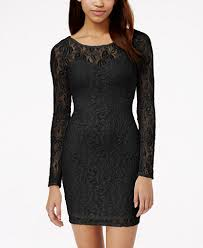 material lace illusion bodycon dress created for macy u0027s