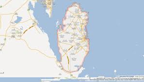 Google Map Of World by Qatar Map