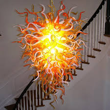 Blown Glass Chandeliers Sale Amazing Blown Glass Chandelier Buy The Anemone 29 For