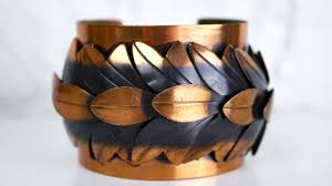 copper jewelry bracelet images Vintage copper jewelry rebajes copper cuff bracelet in leaves jpg