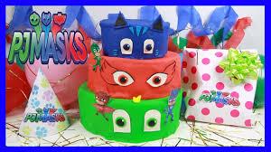 pj masks birthday cake surprise catboy owlette gekko blaze