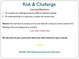 Challenge Risks Aqa Gcse Pe Risk Challenge By Hcrobinson Teaching Resources