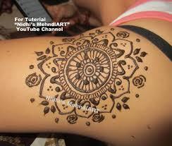 mandala circular design for shoulder henna mehndi tattoo tutorial