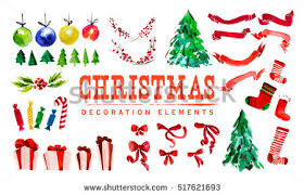 New Year Decoration Vector by Free Christmas Watercolor Wreath Vector Download Free Vector Art