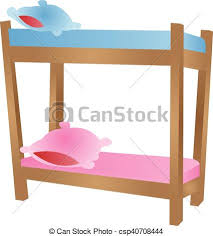 Bunk Bed Drawing Bunk Bed Eps Vector Search Clip Illustration