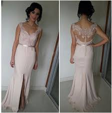 Light Pink Bridesmaid Dress Light Pink Bridesmaid Gown Beaded Prom Dresses Chiffon Prom Gown