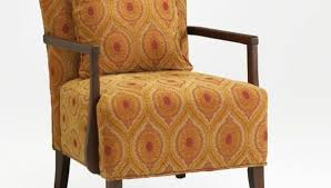 furniture upholstered accent chair with wooden flared leg
