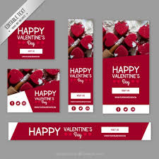 happy valentines day banner happy day banners vector free