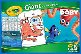 amazon crayola finding dory giant coloring pages toys u0026 games