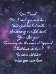 Pink Floyd Lyrics Comfortably Numb Pink Floyd Wish You Were Here Music Pinterest Pink Floyd