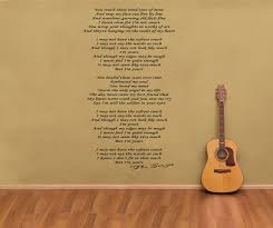 the script i m yours song lyrics wall art decal sticker